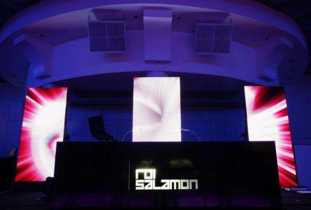 עמדות  DJ בשילוב תאורה אחורית
